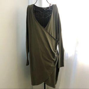 Wrap Dress earth green size 2X